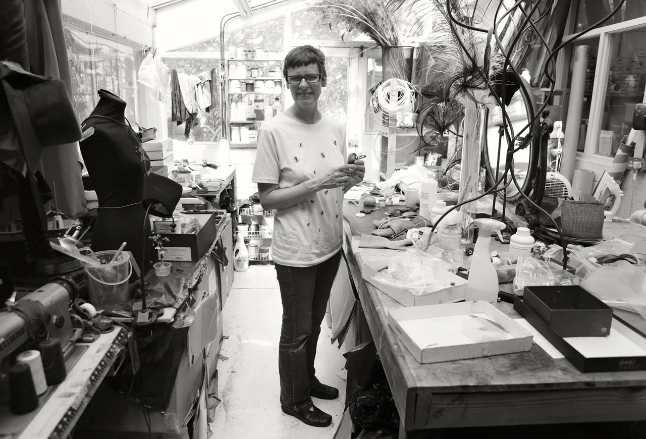 Bridget Bailey in her studio